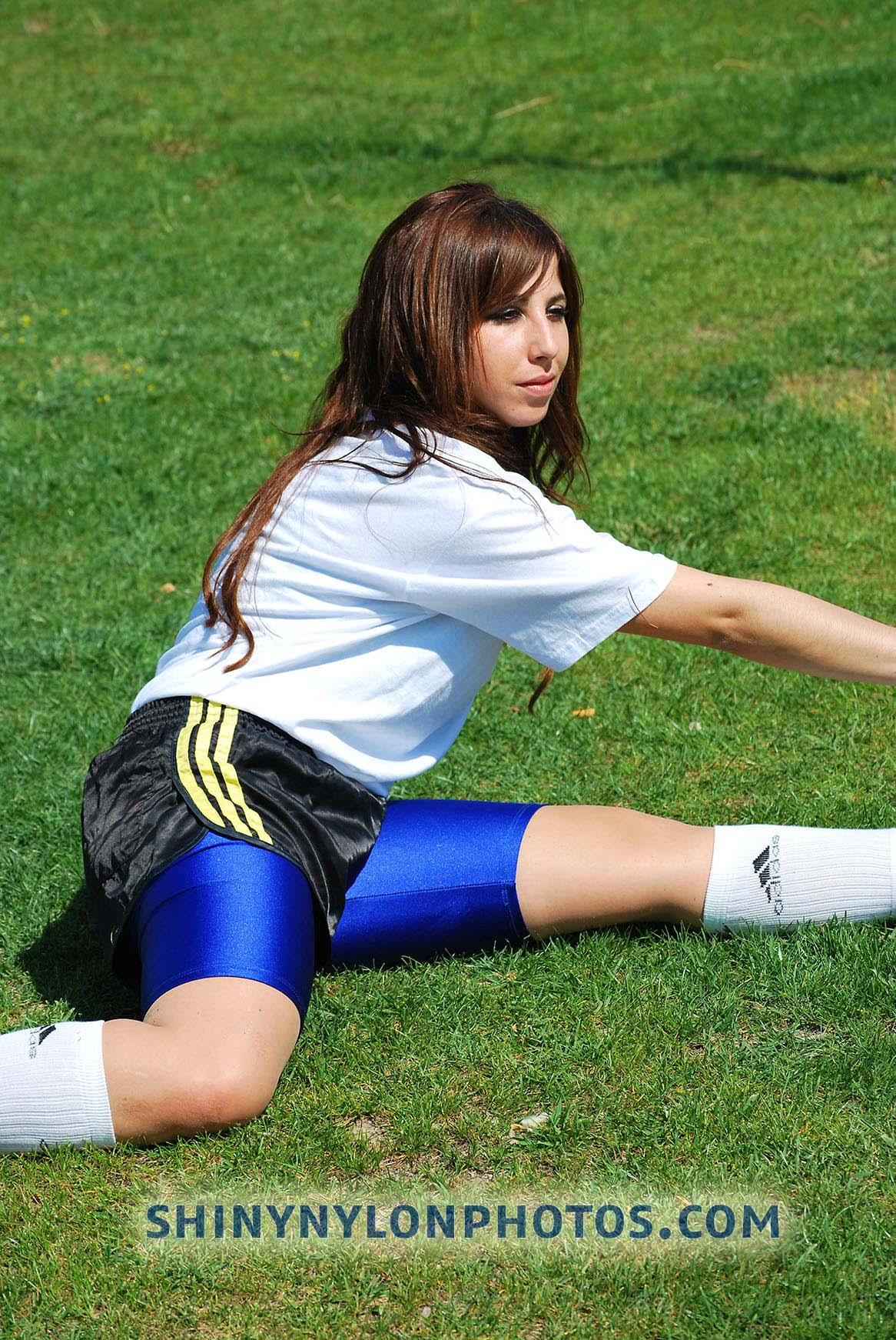 PHOTOSET 16 | Black adidas nylon shorts and blue lycra/spandex shorts