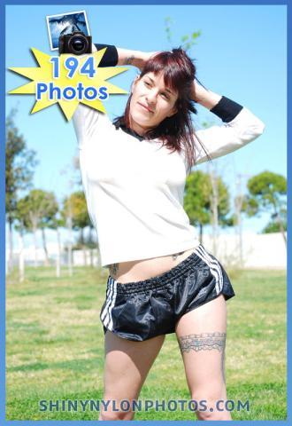 Black sprinter nylon shorts