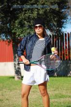 White nylon shorts and dark blue nylon jacket