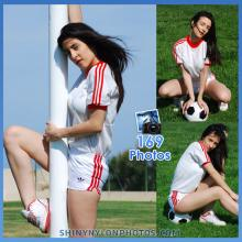 White adidas nylon shorts  and white t-shirt