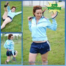 Navy blue adidas nylon shorts