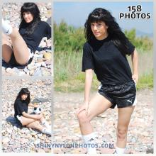 Black puma nylon shorts