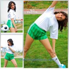 Green adidas chile shorts